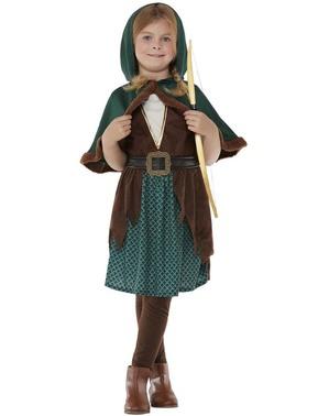 Disfraz de arquera del bosque para niña