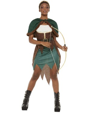 Costum de arcaș al pădurii pentru femeie