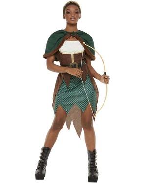 Woodland Bueskytter Kostyme til Dame