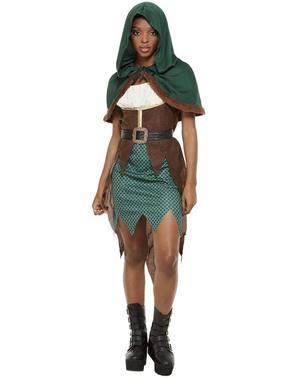 Disfraz de arquera del bosque para mujer