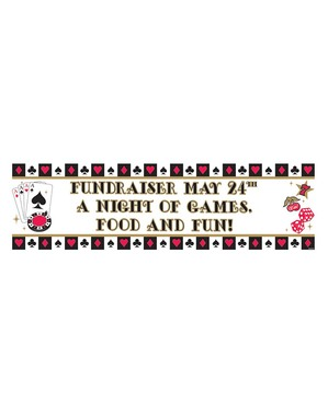 Pancarta póker personalizable