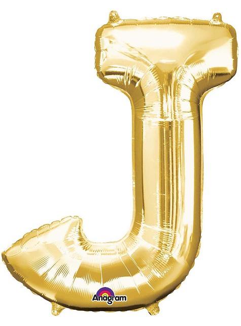 Globo foil letra J dorado (86 cm)
