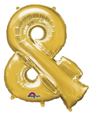 & Sign Foil Balloon in Gold (76 cm)