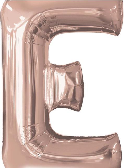 Globo foil letra E oro rosa (81cm)