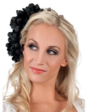 Flor de jovem elegante preta para mulher