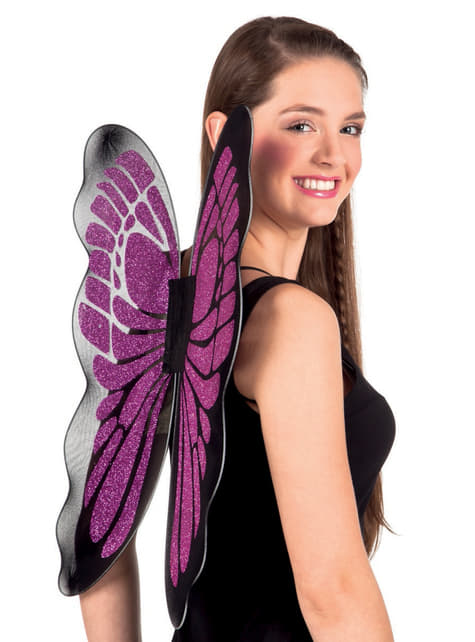 Alas de mariposa moradas