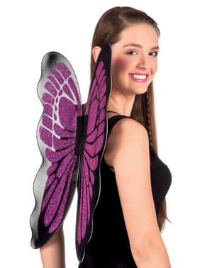बैंगनी तितली पंख