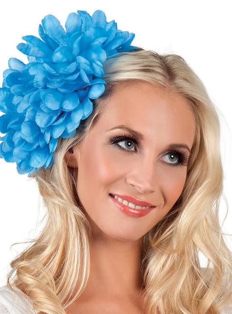 Flor de joven elegante azul para mujer