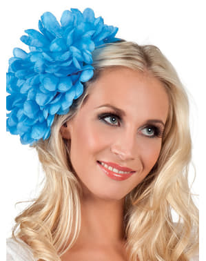 Fiore giovane elegante blu per donna