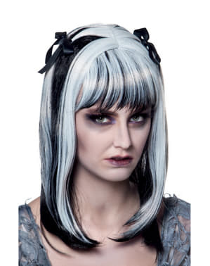Peluca de zombie fantasma para mujer