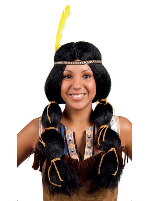 Peluca de india de la tribu para mujer