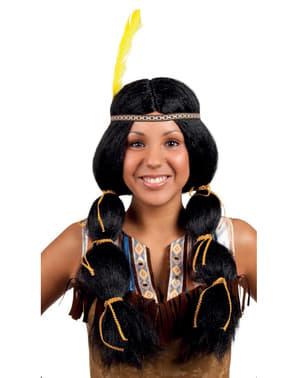 Indianerin Perücke für Damen