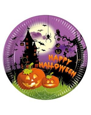 """8 farfurii """"Happy Halloween"""" (23 cm) - Happy Spooky Halloween"""