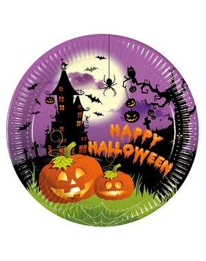 """8 """"Happy Halloween"""" -Lautasta (23 cm) - Happy Spooky Halloween"""