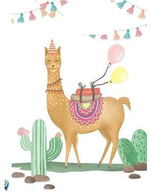 6 Llama Party Bags - Llama