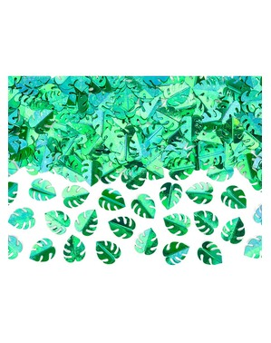 Metallic Tropical Leaves Table Confetti
