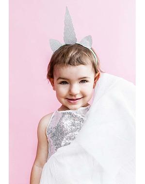 Diadema de unicornio para niña