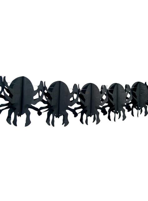 Guirnalda de arañas terroríficas