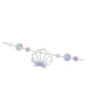 Grinalda iridiscente festa de sereias