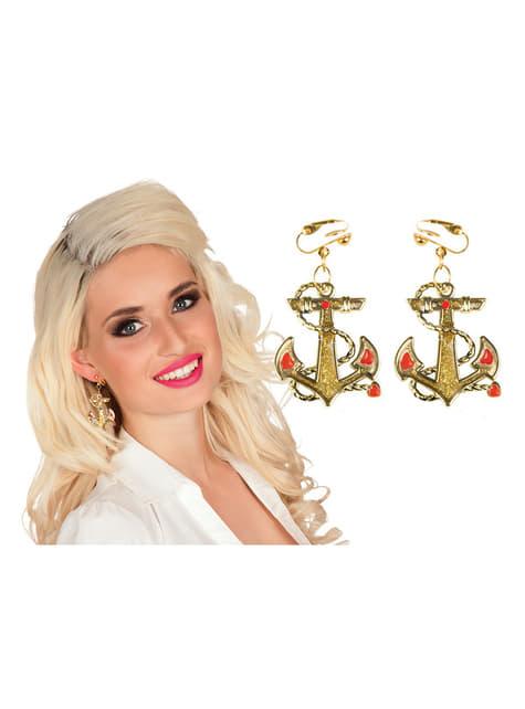 Pendientes de ancla marinera para mujer - original