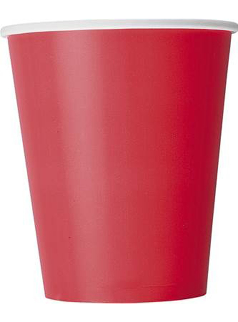 8 Red Cups - Basic Colours Line