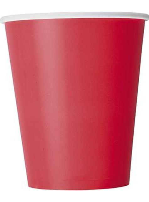 8 vasos rojos  - Línea colores Básicos