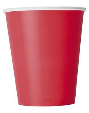 8 bicchieri rossi - Linea colori basic