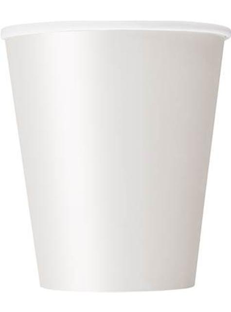 8 vasos blancos - Línea Colores Básicos