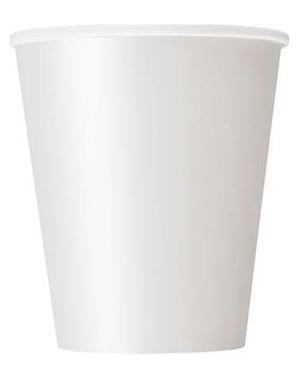 8 copos brancos - Linha Cores Básicas