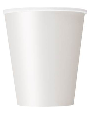8 gobelets blancs - Gamme couleur unie