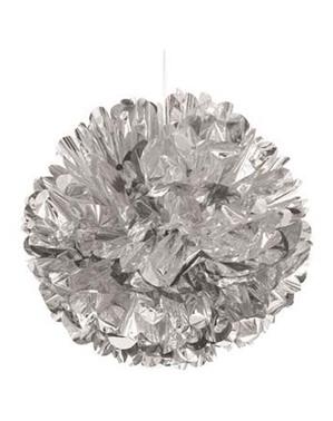 Srebrny Pompon Dekoracyjny - Linia Kolorów Podstawowych