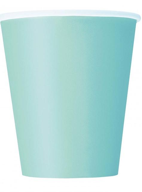8 vasos verde menta - Línea Colores Básicos