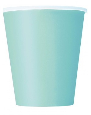 8 Mint Green Cups - Línea Colores Básicos
