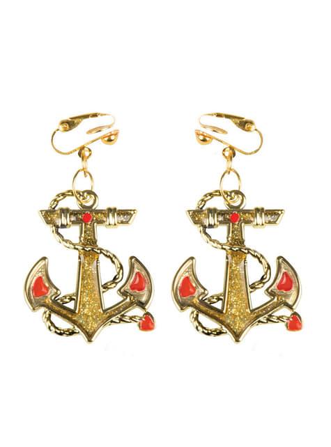 Woman's Marine Anchor Earrings