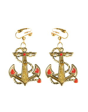 Woman's Marine Anchor Earrings