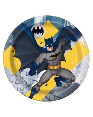 8 pratos Batman (23 cm)