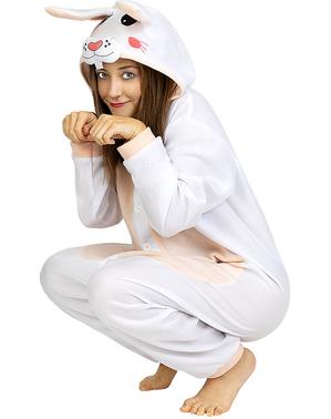 Hasen Onesie Kostüm für Erwachsene