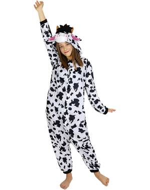 Onesie Cow Costume for Adults