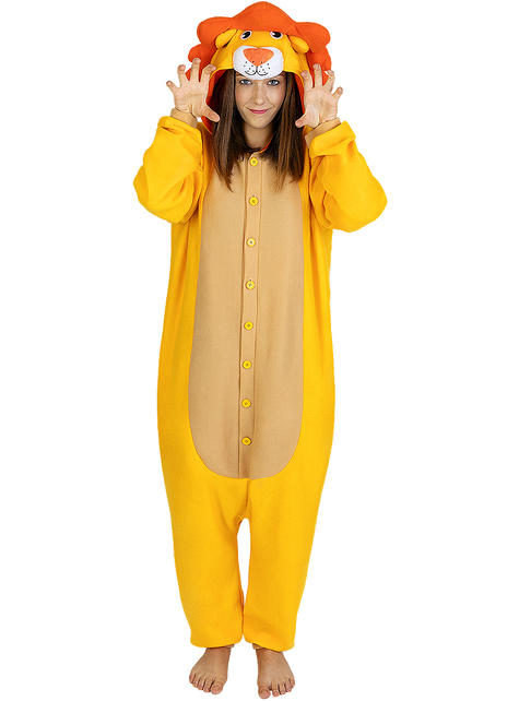 Onesie leeuw kostuum voor volwassenen