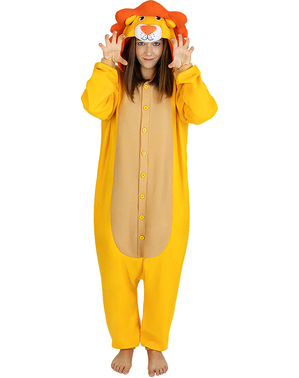 Onesie Lion Costume for Adults