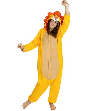 Déguisement lion onesie adulte