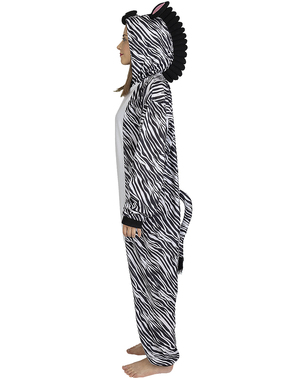 Disfraz de cebra onesie para adulto