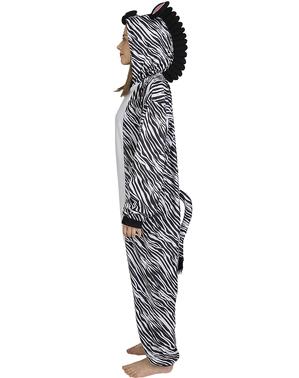 Zebra Onesie Kostüm für Erwachsene