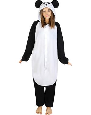 Maskeraddräkt med Panda onesie för vuxen