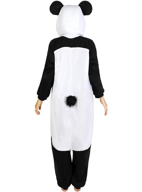 Onesie panda kostuum voor volwassenen