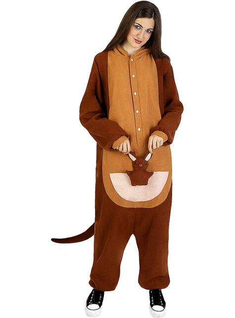 Disfraz de canguro onesie para adulto