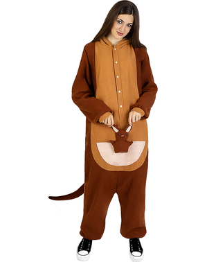 Onesie kangaroe kostuum