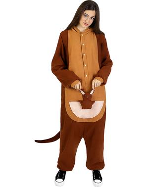 Onesie Kangaroo Costume for Adults