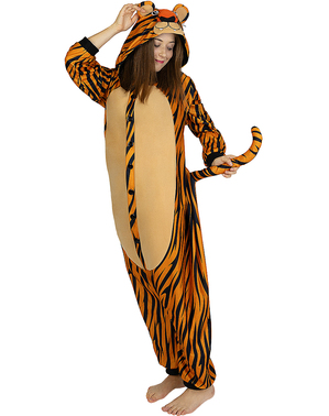 Onesie Tiger Costume for Adults