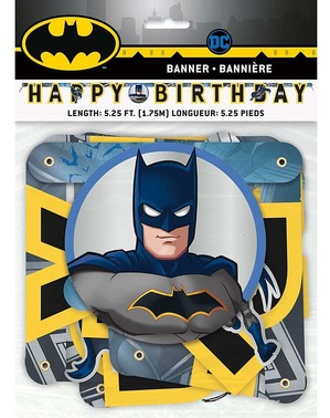 """Happy Birthday"" Batman Garland"